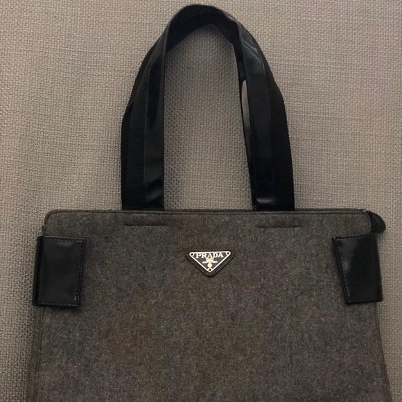 09dba5366b99d7 Prada Bags | Midsize Briefcase Tote Bag Fabric Vintage | Poshmark